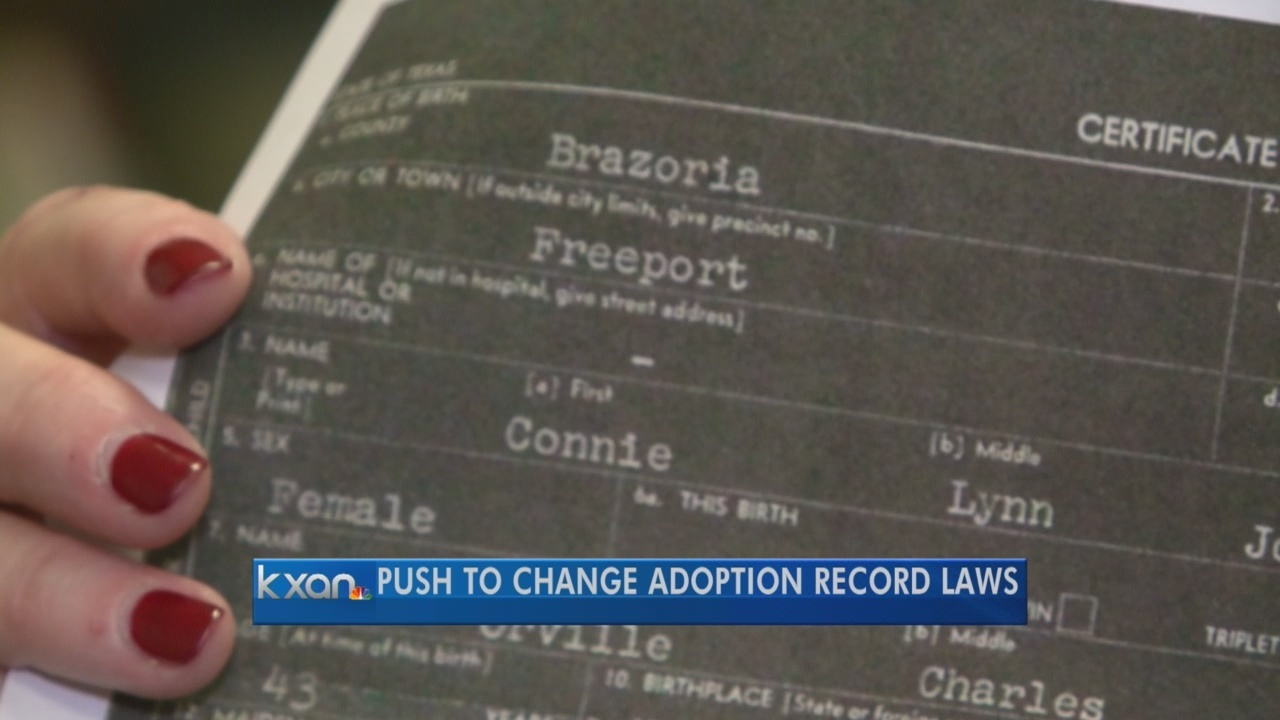 Adoption group supports bill to access original birth certificates adoption group supports bill to access original birth certificates kxan 1betcityfo Gallery