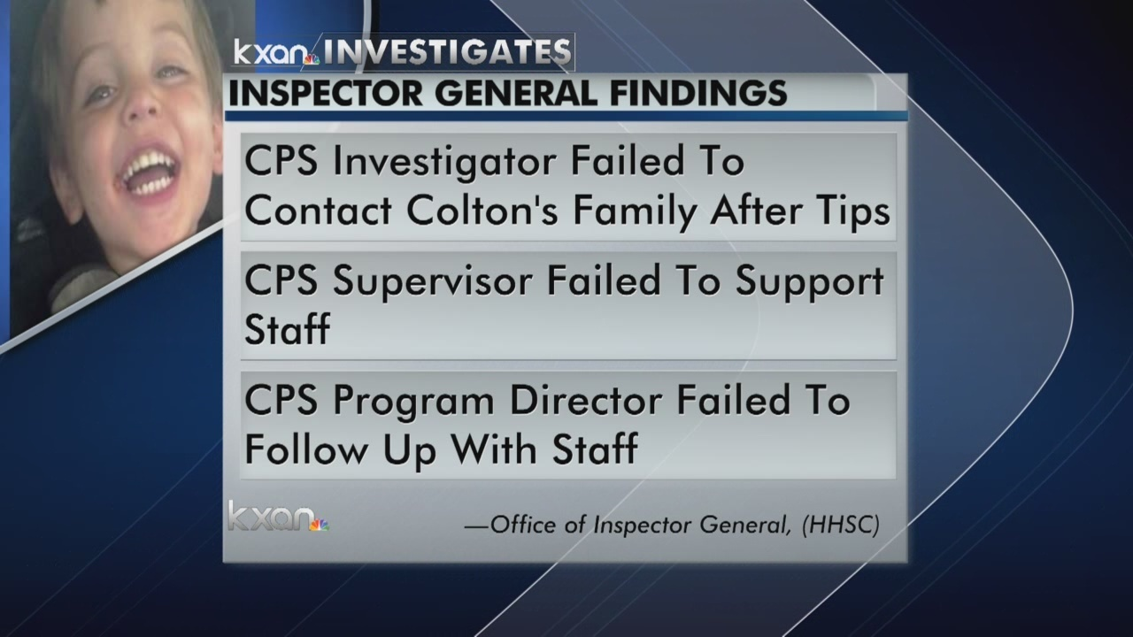 CPS worker firings 'substantiated' after Colton Turner death