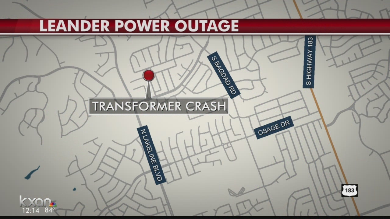 Leander Power Outage Caused By Crash Into Transformer