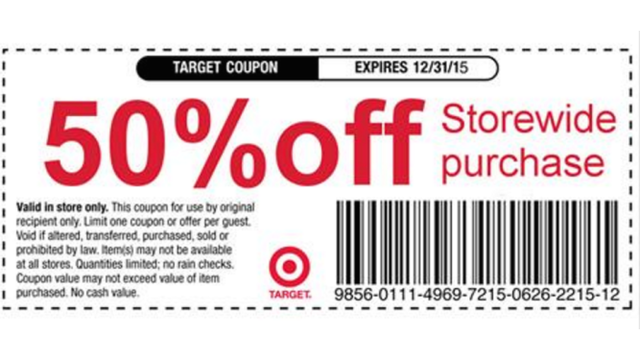 Viral Target coupon offering 50% off debunked