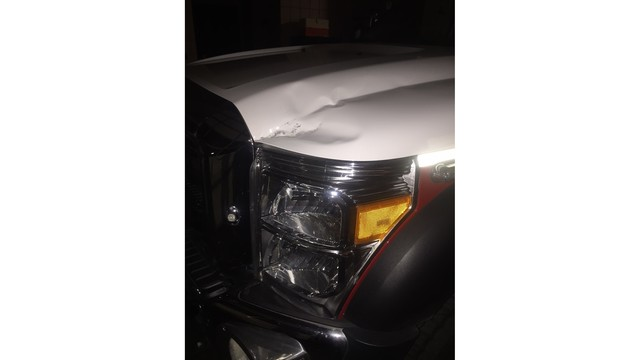 Williamson County EMS ambulance damaged by rock throwing_228489