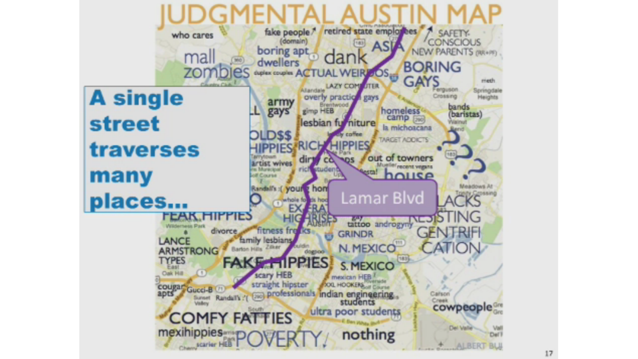 City: \'Inappropriate\' Austin map used in presentation