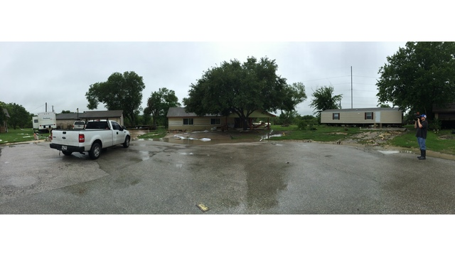 Thoroughbred Farms home damaged by severe weather (KXAN Photo_ Kylie McGivern)_291422