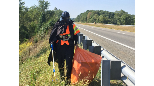 Determined to rid galaxy of Rebel scum, Darth Vader adopts, cleans road