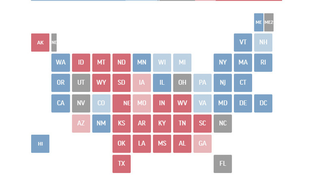 270 to Win: Which states push each candidate to victory