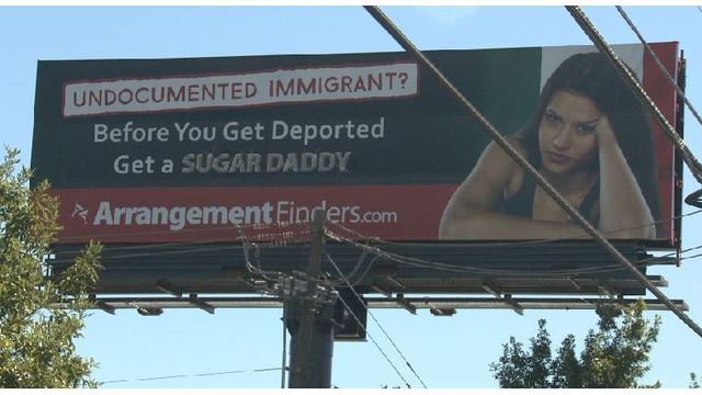 Controversial 'sugar daddy,' deportation billboard will be taken down