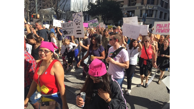 Women's March taking over downtown Austin at the State Capitol_402400