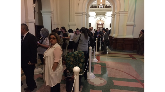 Hundreds are expected to voice their outrage over the sanctuary city bill (KXAN Photo_ Julie Karam)_408334