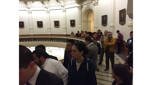 Hundreds are expected to voice their outrage over the sanctuary city bill (KXAN Photo_ Julie Karam)_408335