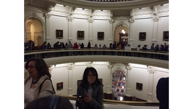 Hundreds are expected to voice their outrage over the sanctuary city bill (KXAN Photo_ Julie Karam)_408339