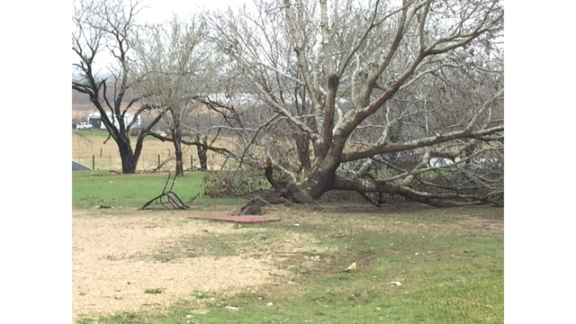 House severely damaged in Williamson County. The homeowners were out of town at the time of the severe storm_422572