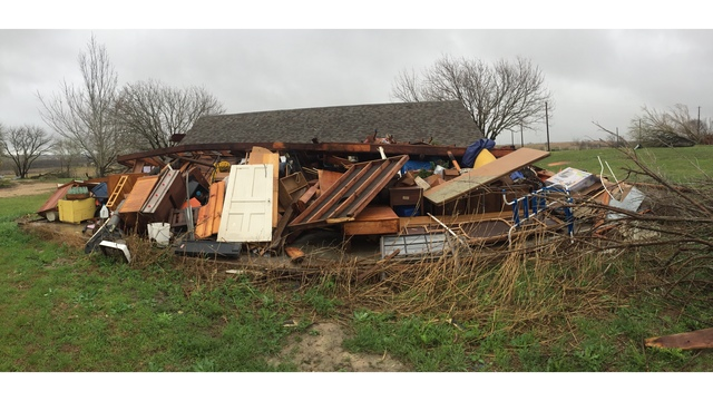 House severely damaged in Thrall area The homeowners were out of town at the time of the severe storm (KXAN Photo_ Todd Bailey)_422575