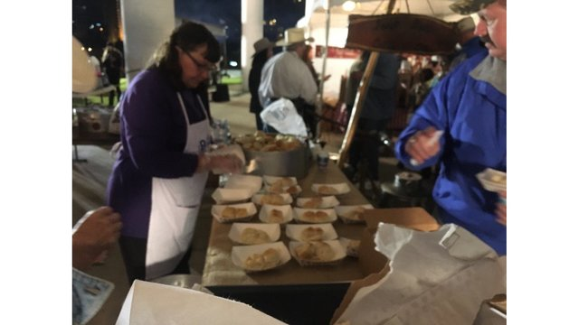 Serving up some Texas-sized fun and delicious food at the Cowboy Breakfast (KXAN Photo_ Todd Bailey)_429761