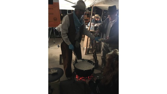 Serving up some Texas-sized fun and delicious food at the Cowboy Breakfast (KXAN Photo_ Todd Bailey)_429765