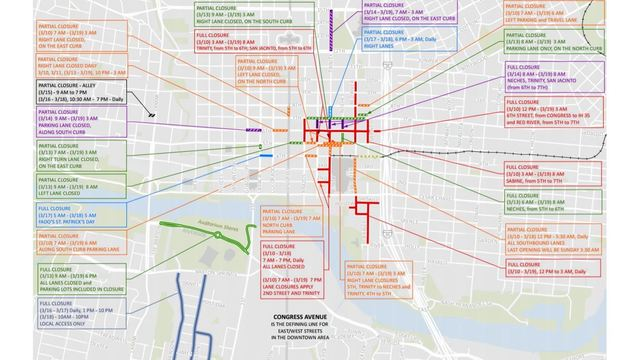 How to negotiate the maze of SXSW street closures downtown Sxsw Map on live map, linkedin map, business map, culture map, marketing map, communication map, research map, love map, fashion map, networking map, food map, inspiration map, maker faire map, london map, fun map, tv map, coachella map, itunes map, sasquatch map, interactive map,