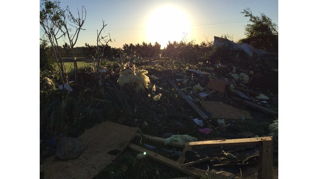Sunrise over East Texas tornado damage (KXAN photo_Todd Bailey)_463214
