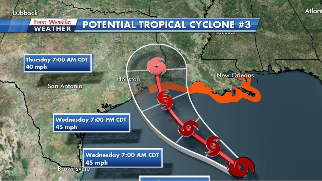 From New Orleans Warnings For Texas >> Part Of Texas Coast Placed Under Tropical Storm Warning