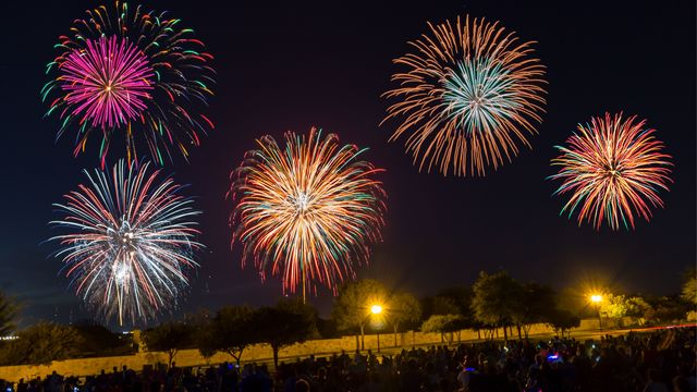 list 2018 fourth of july fireworks shows in central texas