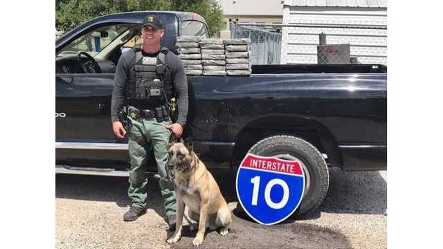 Fayette County Sheriff's Office Sgt. Randy Thumann and his K9 partner Lobos found $2 million worth of cocaine during a traffic stop of July 11,_505652