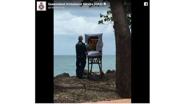 Ambulance crew grants dying woman's wish to see the beach