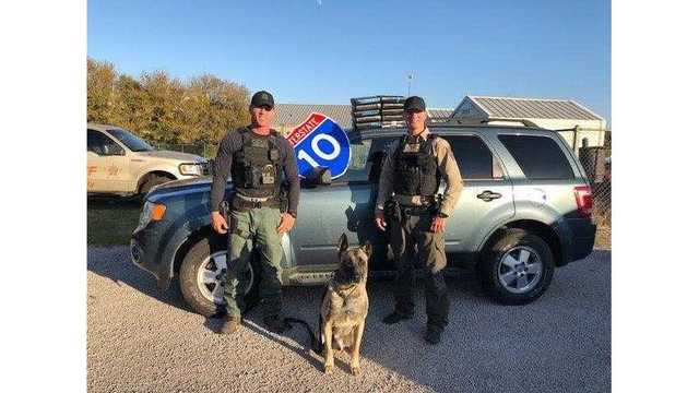 The Fayette County Sheriff's Office with K9 Lobos find $1.3 million worth of cocaine during a traffic stop near Flatonia on Nov. 29, 2017_589773