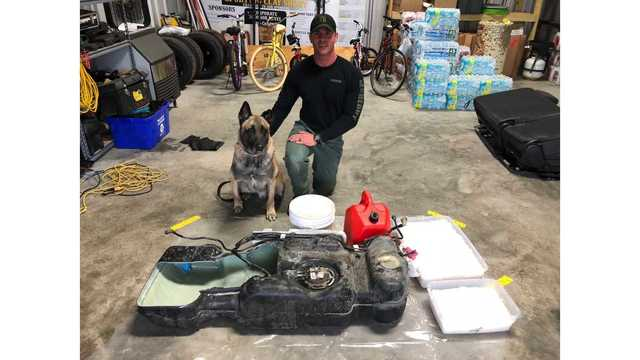 Liquid meth oil found during a traffic stop on I-10 by Fayette County Sgt. Randy Thumann and K-9 Lobos on Feb. 26, 2018 (Fayette County Sheriff_645331