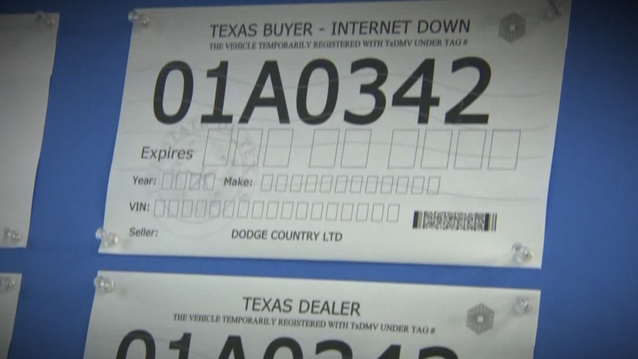 & Paper license plates get security redesign amid fraud increase