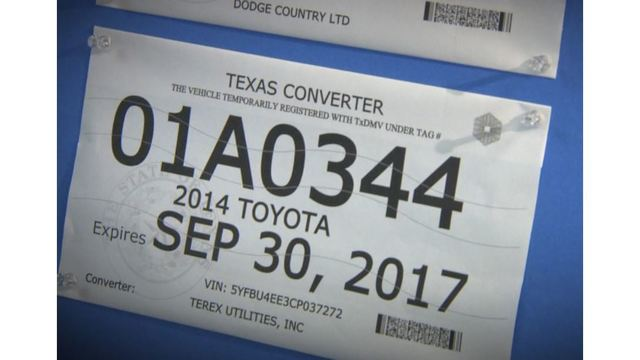 photo  sc 1 st  KXAN.com & Paper license plates get security redesign amid fraud increase