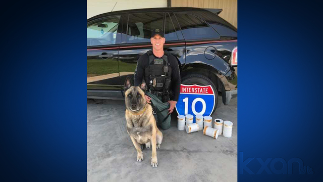 2 K9 Lobos and partner Sgt. Randy Thumann find $1.2 million worth of meth in a vehicle on June 28, 2018