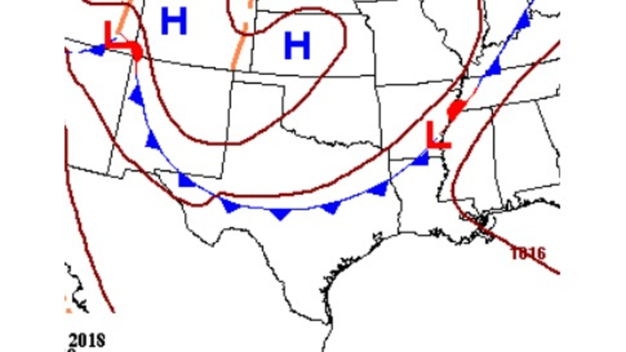 first cold front of the season in extended forecast