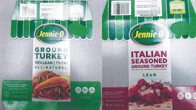 Jennie-O recalls 91K lbs of ground turkey that may have