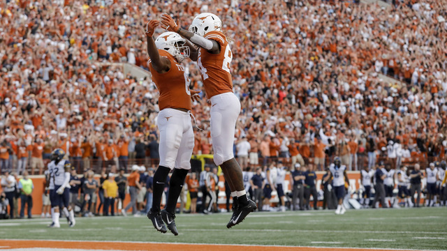 send off the longhorns to the big 12 championship friday morning