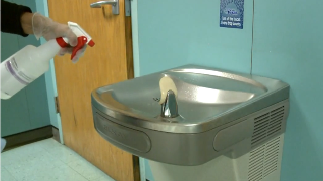 Middle school disinfected after nearly 300 students remain at home