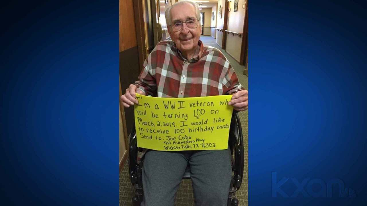 WWII Veteran Asks For 100 Birthday Cards Community Sends Thousands