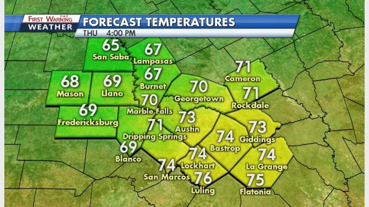 Kxan Traffic Map.Nice Weather Continues Until Colder Air Arrives Friday