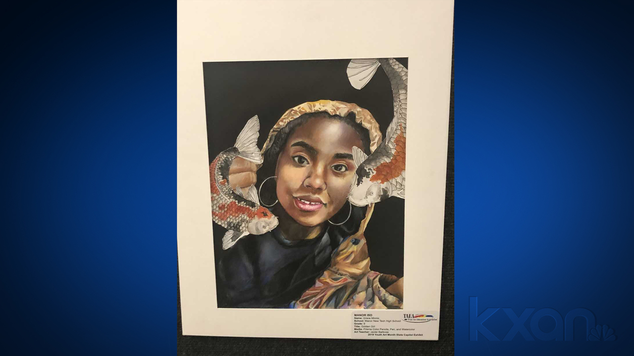 Manor student s artwork chosen to hang in Texas Governor s Office f508b7ab381