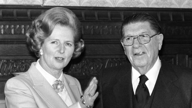 Howard Jarvis with Mrs. Margaret Thatcher Opposition Leader_1553532331948