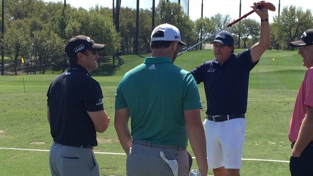 Phil Mickelson Tuesday driving range